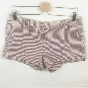 Pants - Pink and Blue Striped Shorts